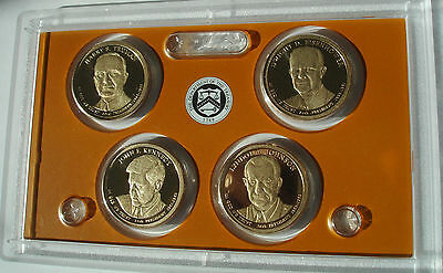 2015 S Presidential proof set  4 coins No Box