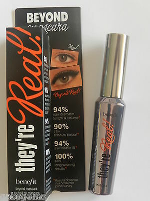 BENEFIT THEY RE REAL MASCARA NEW IN BOX FULL SIZE 8.5g Black