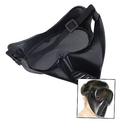 New Hot BB Mesh Face Goggle Full Face Protecting Black Mask Skull For CS FJAU