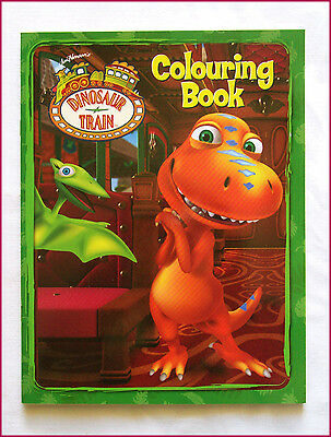 DINOSAUR TRAIN - COLOURING Colour-in - Awesome 24pg BOOK - NEW - ABC Kids