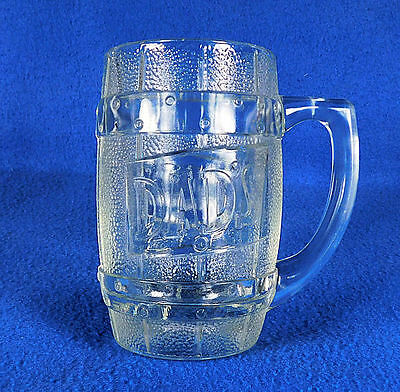 """ DAD'S ""    ROOT BEER   HEAVY  GLASS  MUG  ( 5  1/4"" tall )"