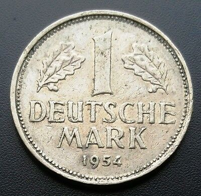 1954-J Germany 1 Mark Coin **great Condition** B14D427