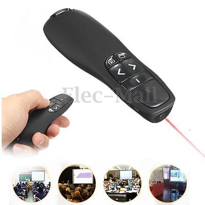 RF 2.4GHz Wireless Presenter USB Remote Control Presentation Mouse Pointer New