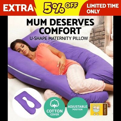 Maternity Pillow Pregnancy Pillow Nursing Feeding Body Support Boyfriend Purple