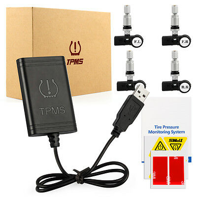 Tire Pressure Monitoring System for Android IOS TPMS BT4.0+ 4 Internal Sensor