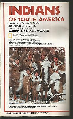 National Geographic Map Indians of South America March 1982 MAP ONLY