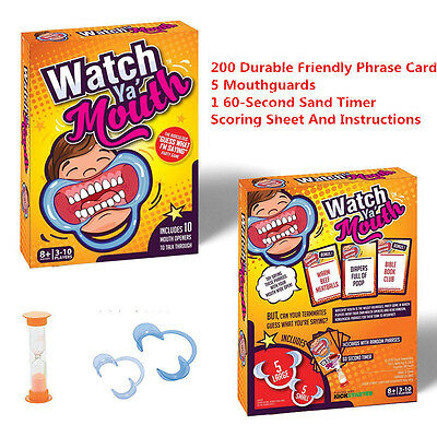 Watch Ya' Mouth Funny Family Mouth Guard Party Board Authentic Speak Out  SALE