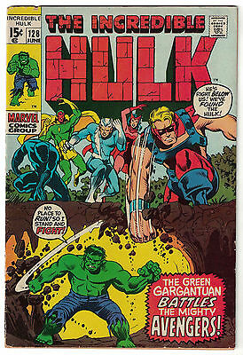 Marvel Comics THE INCREDIBLE HULK Issue 128 And In This Corner The Avengers! VG-