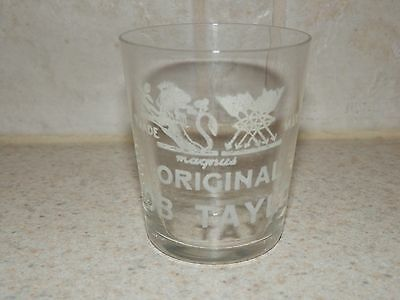 "Vintage Advertising Shot Glass Original Bob Taylor Pyro Magnus 2 1/8"" Thin"