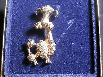 Vintage Avon Poodle Pin Avon Jewelry Gold Toned