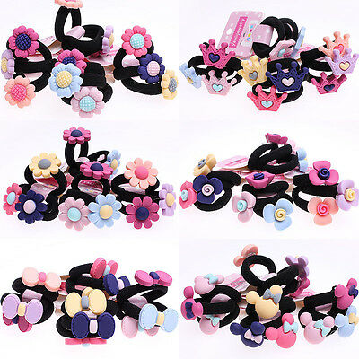 30pcs Lot Baby Kids Girl Hair Bobble Bow Floral Toddler Girls Elastic Hair Bands