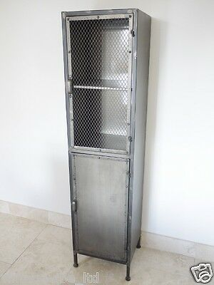 Mesh Front Tall Metal Locker Cupboard Cabinet