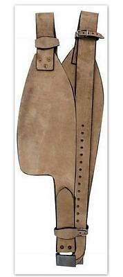 Natural Smooth leather Replacement fenders ONLY for Western Adult saddle SHOWMAN