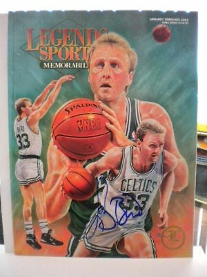 Larry Bird NBA signed autograph Legends Magazine with COA