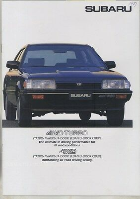 1987 Subaru 4WD Turbo Sedan Coupe Station Wagon JDM Brochure ww3373