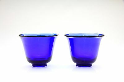 Antique Chinese Two Peking Cobalt Blue Cups - 19th Century