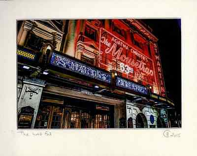 'The Mousetrap' St Martins Theatre London Agatha Christie Mounted Archive Print