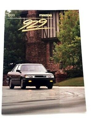 1989 Mazda 929 16-page Original Car Sales Brochure Catalog