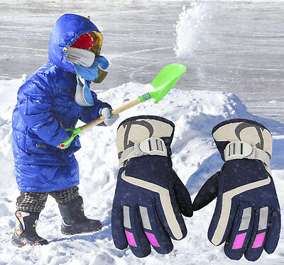2016 Children Kids Boys Winter Gloves Skiing Snowboard Water Resistance Warm Ski