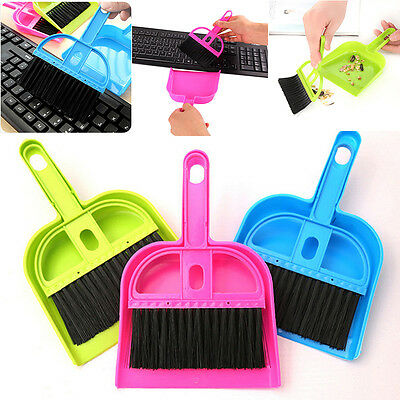 1Set New Small Brooms Whisk Dust Pan Table Keyboard Notebook Dustpan Brush Set