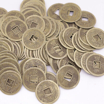 Lots 100 pcs replica china Qing Dynasty double Dragon Alloy coins feng shui