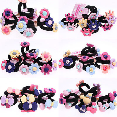 30pcs Baby Kids Girl Bow Floral Toddler Girls Elastic Hair Bands Ponytail Holder