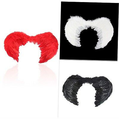 New Feather Fairy Angel Wings Party Fancy Dress Costume Accessory 45*35cm FJAU