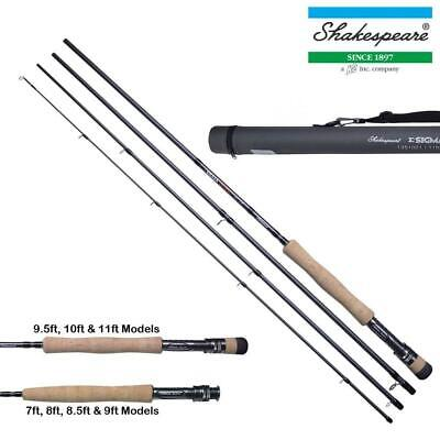 Shakespeare New Sigma Supra 4 Piece Fly Rods 7 Ft - 11 Ft With Hard Travel Tube