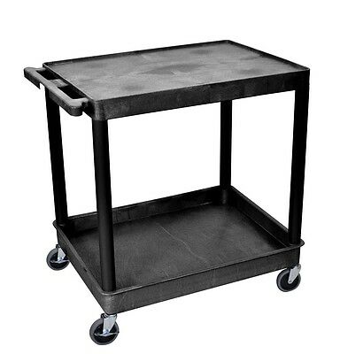 Luxor Large Flat Top and Tub Bottom Shelf Cart