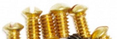 4 brass set screws for antique doorknobs