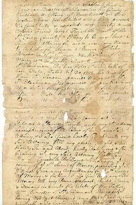1728 Colonial Lebanon CT Power of Attorney Document Early Jonathan Trumbull Sig.