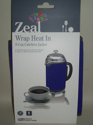New Zeal Cafetiere Insulated Thermal Heat Wrap Jacket 8 Cup Purple C124