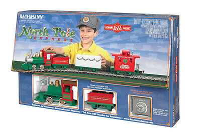Bachmann 90198, G Scale, Li'l Big Haulers North Pole Express Christmas Train Set