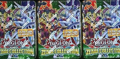 (3) 2013 Yugioh ZEXAL Collection Factory Sealed Premium Tins ! Brand New!