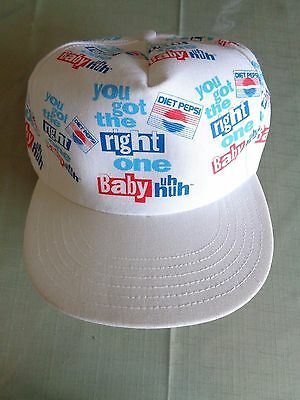 Vintage Pepsi Cola You Got The Right One Baby Uh Huh Snap Back Cap Hat Made USA