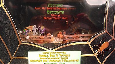 Lemax Halloween Lighted Spooky Town Front Yard Bubble,boil & Trouble Mib