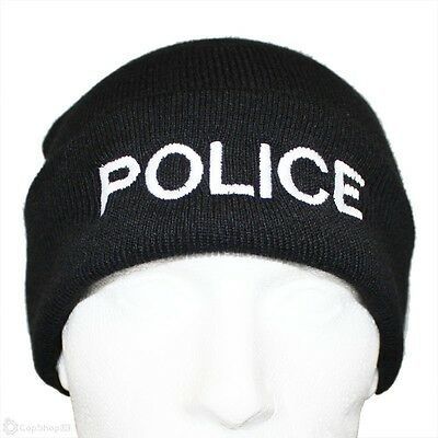 1 x Quality POLICE Branded Woolly Hat in Black ideal for PCSO, POLICE