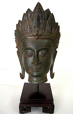 Indian God / Goddess - Sukhothai Style - Khmer Shiva - Hindu - Asian Head #2
