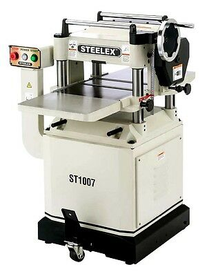 """Steelex Machinery 15"""" x 3 HP Planer + Cast Iron Wings + Mobile Base ST1007 New"""