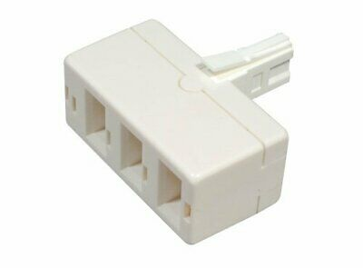 Belkin BT Virgin Phone Telephone Fax Socket Triple Three 3 Way Adapter Splitter