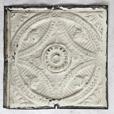 """11 Reclaimed 1890's 12"""" x 12"""" Antique Tin Ceiling Tiles Ivory  D15 *PRIVATE*"""