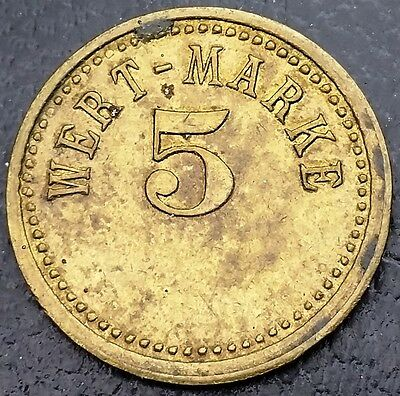 Germany 5 Wert-Marke, Gaming Trade Merchant Token ◢ FREE COMBINED S/H ◣