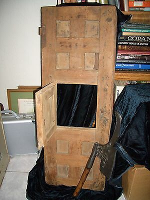 VERY OLD Antique Security Door for City Gate , Monastery Eastern Europe Medieval