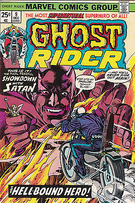 1974 Marvel Comics The Ghost Rider Comic Book #9