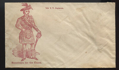 CIVIL WAR cachet ~ 70TH NY INFANTRY * SCOTCHMEN FOR THE UNION