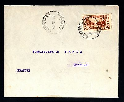 13559-LEBANON-OLD COVER BEYROUTH to BESANCON(france).1935.WWII.Liban.enveloppe