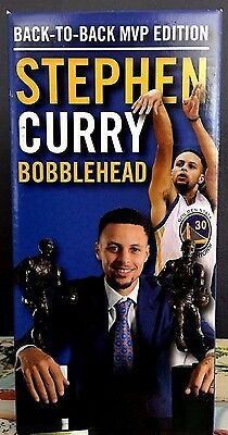 Stephen Curry Golden State Warriors Sga Bobblehead Back To Back Mvp New In Box!