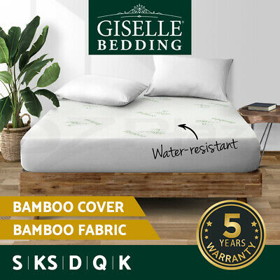 【20%OFF】Waterproof Bamboo Mattress Protector Queen Cotton Fully Fitted All Size