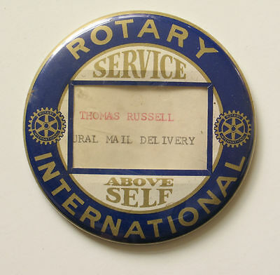 ROTARY INTERNATIONAL Service Above Self Button Badge Rural Mail Delivery NH