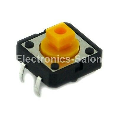 100x OMRON B3F-4055 Tactile Switch, 12x12x7.3mm, Momentary.